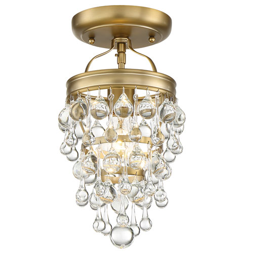 Crystorama Lighting Group Calypso One-Light Vibrant Gold Mini Chandelier