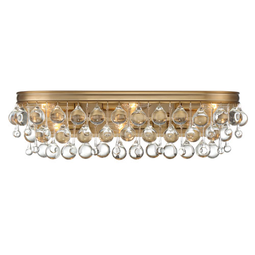 Calypso Six-Light Vibrant Gold Bath Light