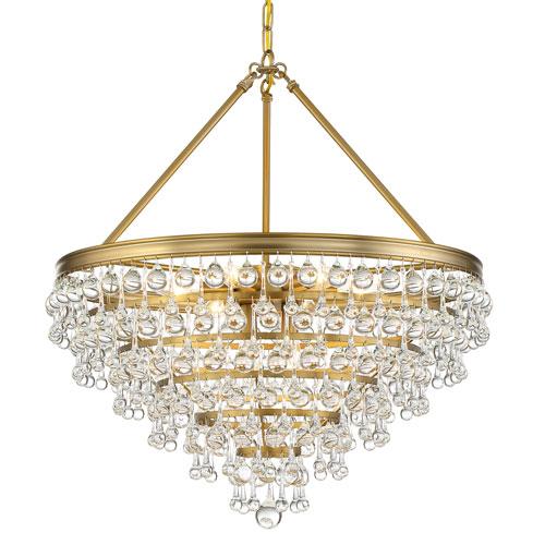 Crystorama Lighting Group Calypso Eight-Light Vibrant Gold Chandelier