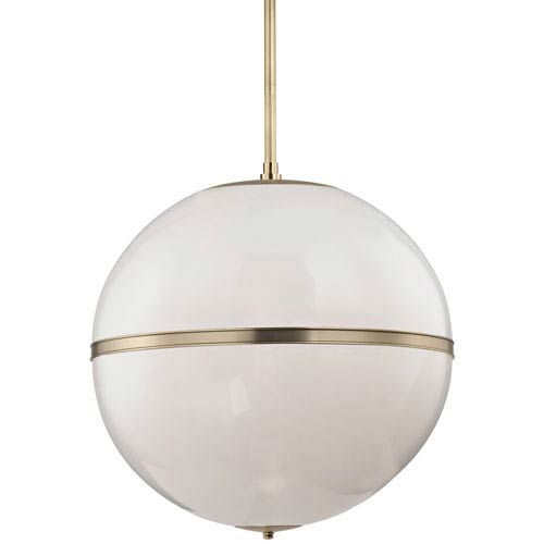 Truax Aged Brass Three Light Thirty Inch Pendant