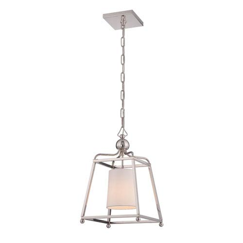 Crystorama Lighting Group Sylvan Polished Nickel One-Light Pendant by Libby Langdon