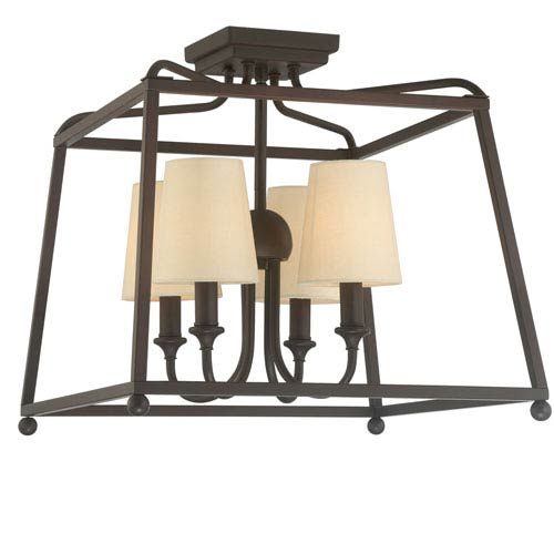 Crystorama Lighting Group Sylvan Dark Bronze Four Light Flush Mount