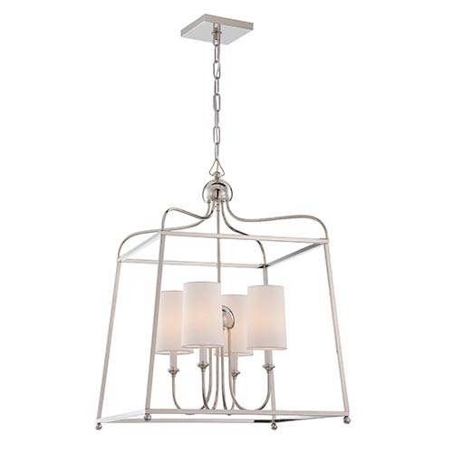 Crystorama Lighting Group Sylvan Polished Nickel Four-Light Chandelier by Libby Langdon