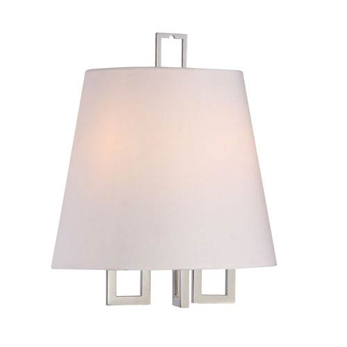 Westwood Polished Nickel 12-Inch Two-Light Sconce by Libby Langdon