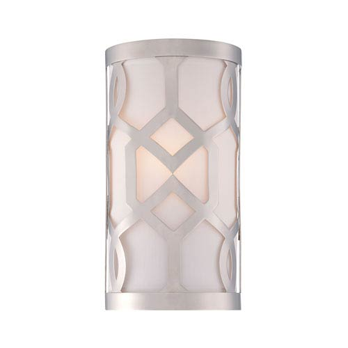 Jennings Polished Nickel One-Light Wall Sconce by Libby Langdon