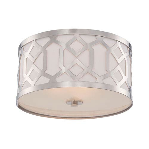 Jennings Polished Nickel Three-Light Flush Mount by Libby Langdon