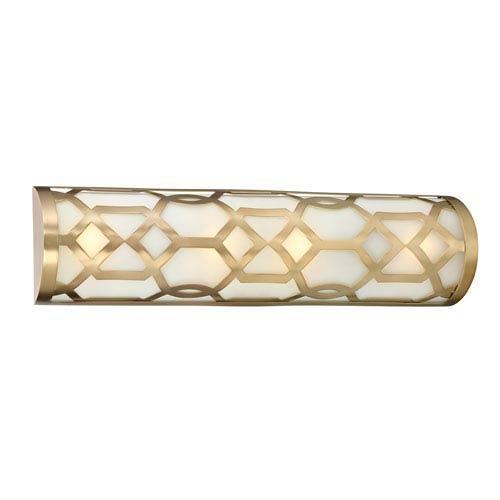 Jennings Aged Brass One Light LED Vanity
