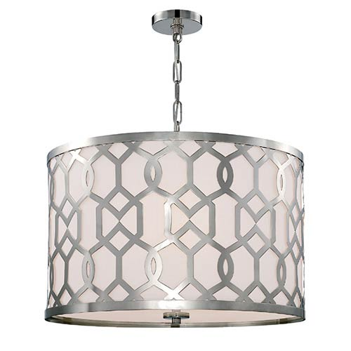 Crystorama Lighting Group Jennings Polished Nickel 24-Inch Wide Five-Light Pendant by Libby Langdon