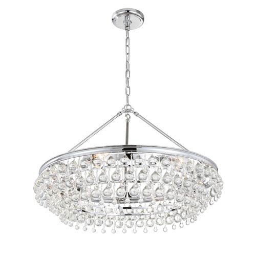 Calypso Polished Chrome Six-Light Pendant