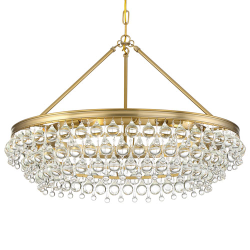 Crystorama Lighting Group Calypso Six-Light Vibrant Gold Chandelier