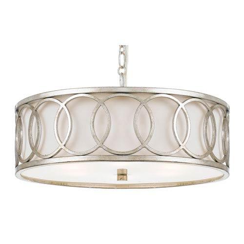 Graham Antique Silver Six-Light Pendant