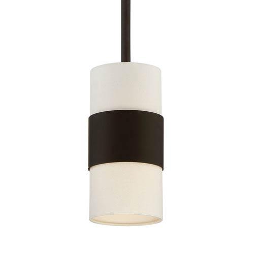 Crystorama Lighting Group Grayson Dark Bronze One-Light Pendant