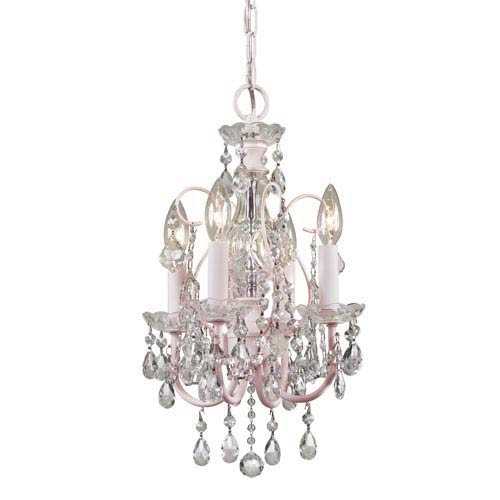 Imperial Collection Four-Light Blush Chandelier with Hand Cut Crystal