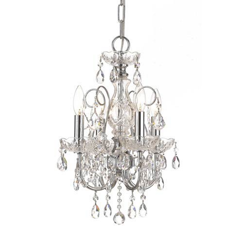Crystorama Lighting Group Imperial Wrought Iron Crystal Mini Chandelier With Swarovski Spectra