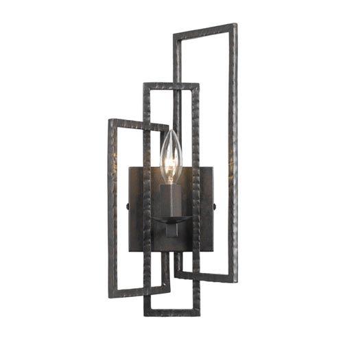 Crystorama Lighting Group Capri Raw Steel One-Light Sconce