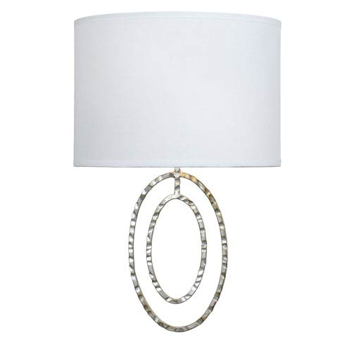 Jolie Antique Silver Two-Light Sconce