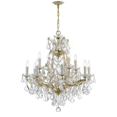 Crystorama Lighting Group Maria Theresa Gold 12-Light Chandelier