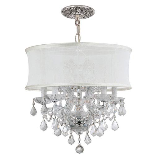 Crystorama Lighting Group Brentwood Polished Chrome Six-Light Chandelier with Swarovski Spectra Crystal