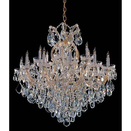 Crystorama Lighting Group Maria Theresa Gold Eighteen-Light Chandelier with Swarovski Strass Crystal