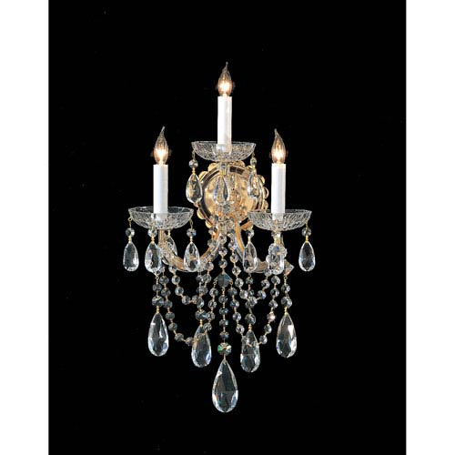 Crystorama Lighting Group Maria Theresa Sconce with Swarovski Strass Crystal
