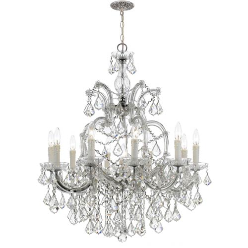 Crystorama Lighting Group Maria Theresa Polished Chrome 11-Light Chandelier with Clear Crystal