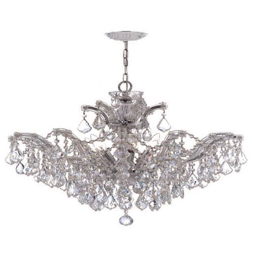 Crystorama Lighting Group Maria Theresa Polished Chrome Six-Light Convertible Chandelier with Swarovski Strass Crystals