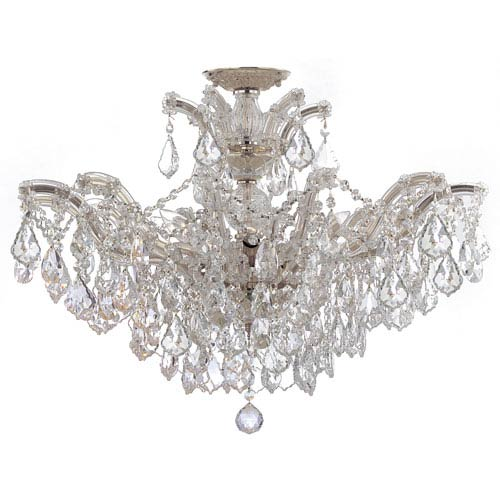Crystorama Lighting Group Maria Theresa Polished Chrome 12-Light Semi Flush Mount with Spectra Crystal