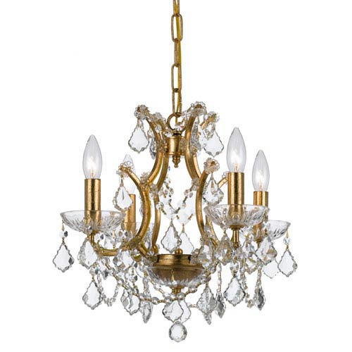 Crystorama Lighting Group Filmore Antique Gold Four-Light Chandeliers