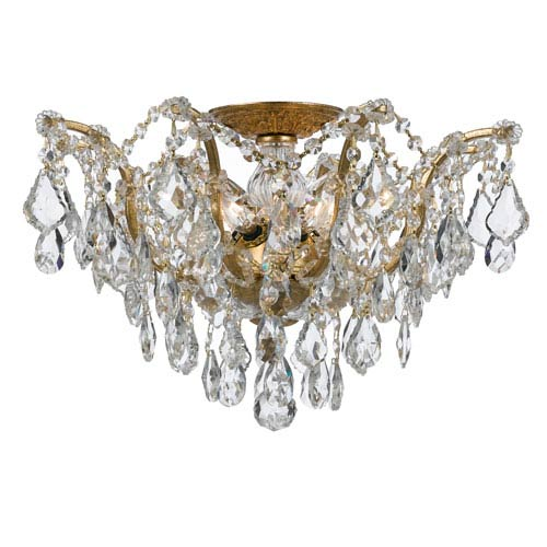 Crystorama Lighting Group Filmore Antique Gold Five-Light Semi-Flush Mount Fixture