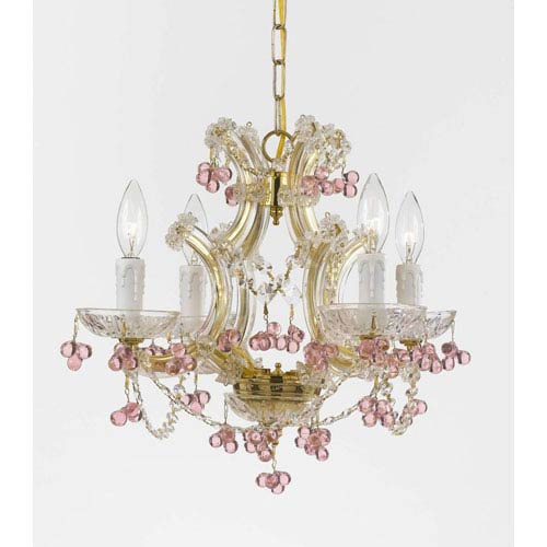 Crystorama Lighting Group Maria Theresa Gold Four-Light Mini Chandeliers