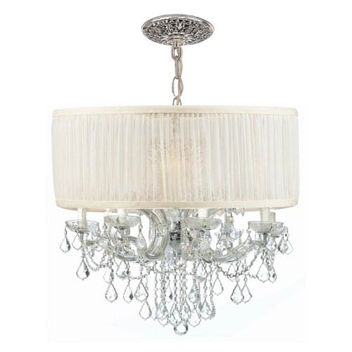 Crystorama Lighting Group Brentwood Polished Chrome Twelve-Light Chandelier with Swarovski Strass Crystal