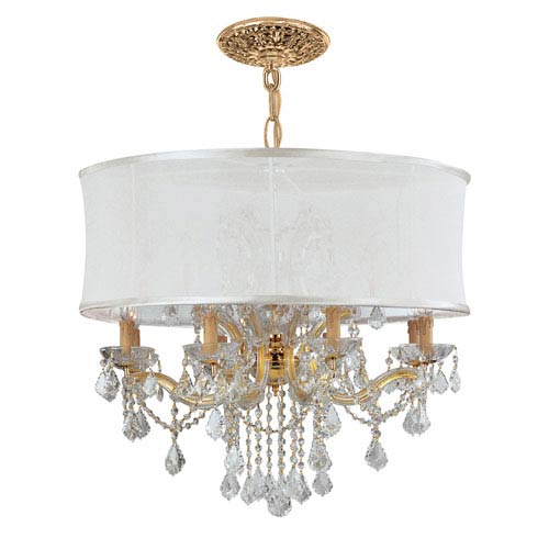Crystorama Lighting Group Brentwood Gold Twelve-Light Chandelier with Hand Polished Crystal