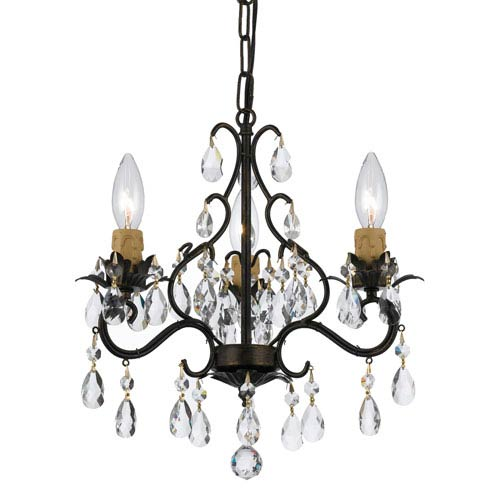 Crystorama Lighting Group Filmore English Bronze Three-Light Mini Chandelier