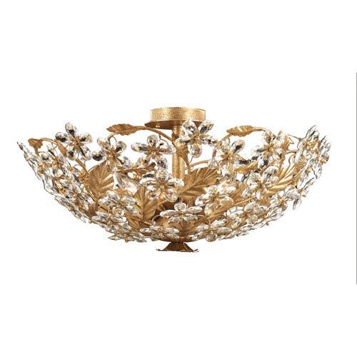 Victoria Gold Leaf Flush Mount Ceiling Light