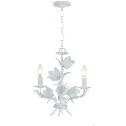 Southport Wet White Three-Light Chandelier