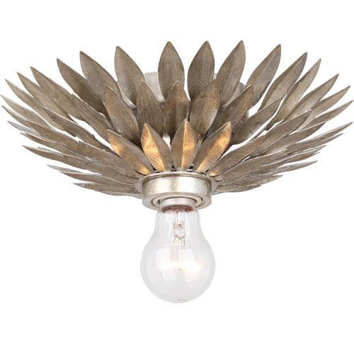 Crystorama Lighting Group Broche Antique Silver One-Light Semi-Flush Mount