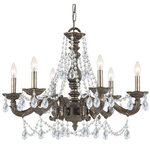 Crystorama Lighting Group Sutton Venetian Bronze Six Light Swarovski Spectra Crystal Chandelier