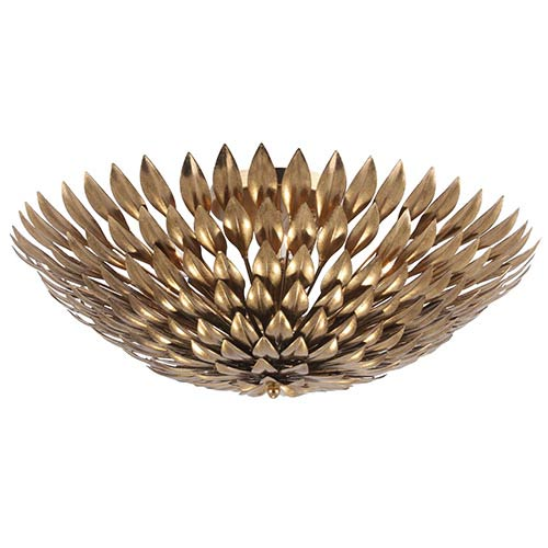 Crystorama Lighting Group Broche Antique Gold Six-Light Semi-Flush