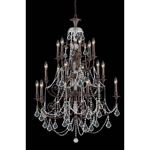 Crystorama Lighting Group Regis Clear Swarovski Spectra Crystal Wrought Iron Chandelier