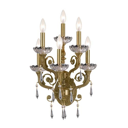 Regal Solid Brass Strass Crystal Sconce