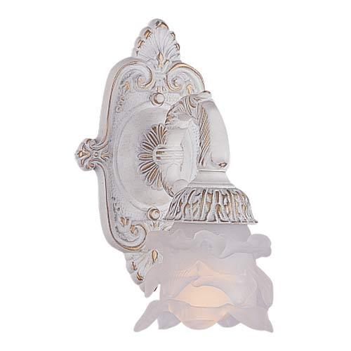 Paris Flea Antique White One-Light Sconce