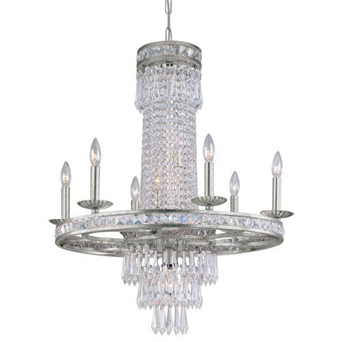 Mercer Olde Silver Seven-Light Chandelier with Hand Polished Crystal