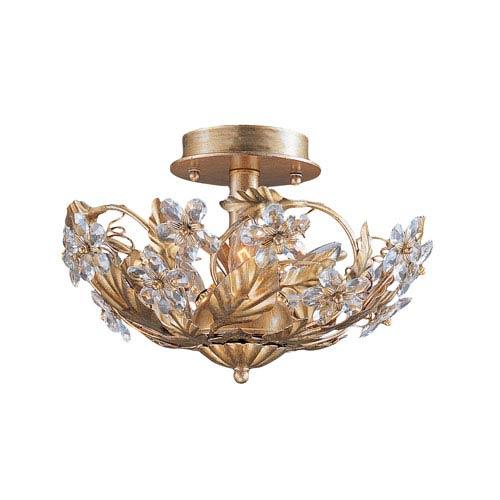Crystorama Lighting Group Abbie Gold Leaf Three Light Hand