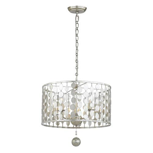 Crystorama Lighting Group Layla Antique Silver Five-Light Chandelier