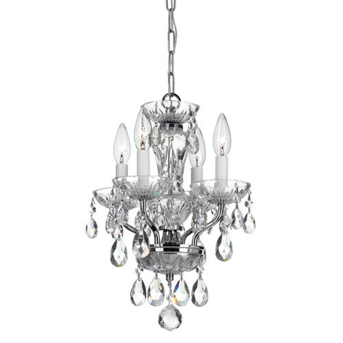 Crystorama Lighting Group Traditional Chrome Four Light Chandelier with Clear Spectra Crystal