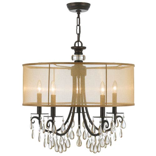 Crystorama Lighting Group Hampton English Bronze Five-Light Chandelier