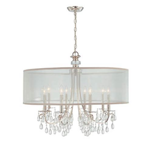 Crystorama Lighting Group Hampton Polished Chrome Crystal Eight-Light Pendant