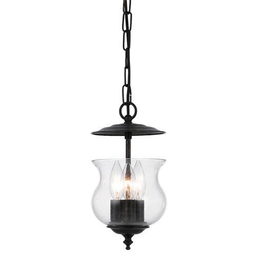 Crystorama Lighting Group Ascott English Bronze Three-Light Bell Jar Pendant