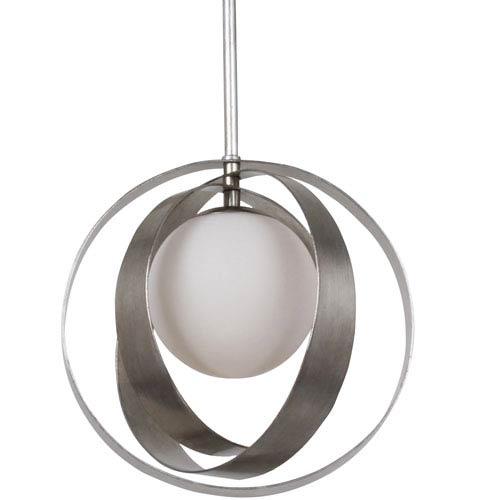 Crystorama Lighting Group Arlo Antique Silver Pendant