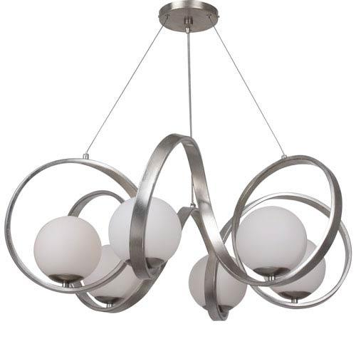 Crystorama Lighting Group Arlo Antique Silver Six Light Chandelier